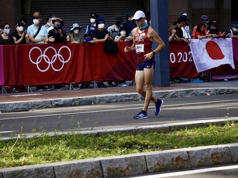 Vít Hlaváč během olympijského závodu na 50 kilometrů.