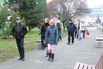 Návštěvníci si šli park rovnou prohlédnout.