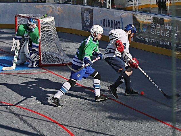 HBC ALPIQ Kladno vs. HBC Plzeň 3:0, extraliga hokejbalu, 15. 10. 2017