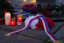 Den boje za svobodu a demokracii si připomněli lidé také na Kladensku.