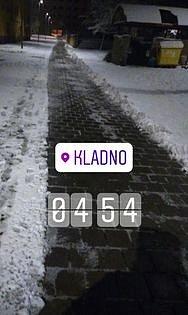 Zasněžené Kladno.