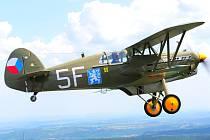V hangáru kladenského aeroklubu si mohou příznivci letectví prohlédnout unikátní stíhačku Avia B-534.