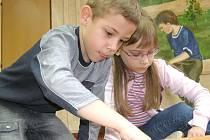 Děti se do plnění úkolů pustily se vší vervou