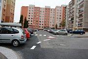 Současný stav Rabasovy ulice v Kladně.