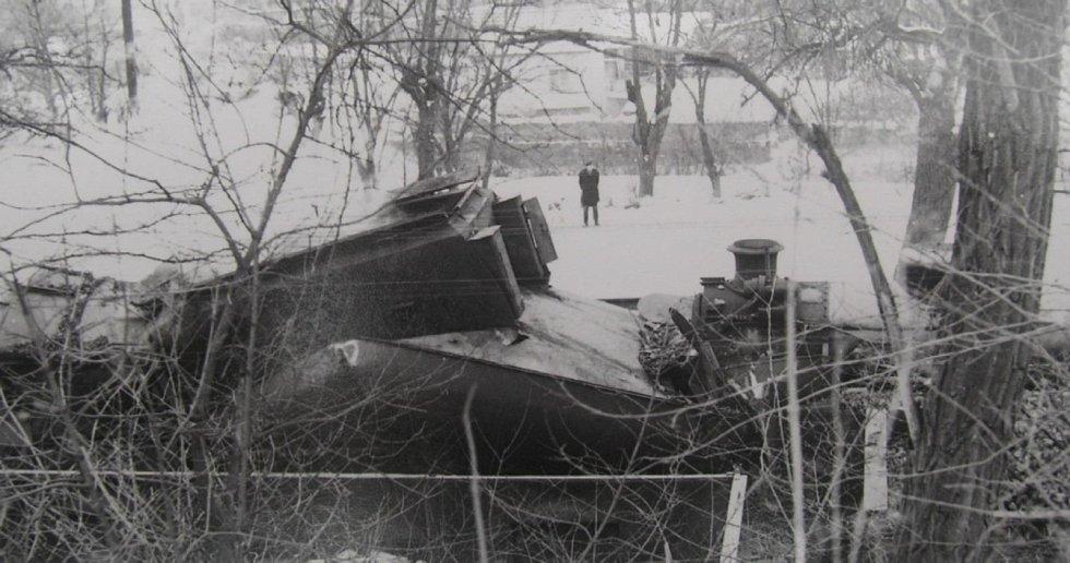 Vlakové neštěstí v Zákolanech v roce 1964.