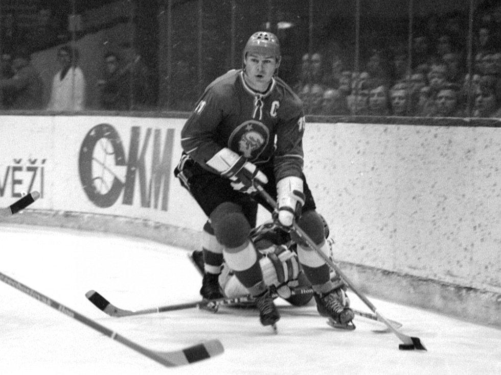Legendární kapitán hokejového Kladna i národního týmu František Pospíšil.