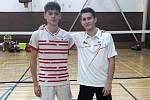 Badmintonisté Kladna: Michal Morávek (vlevo) a jeho spoluhráč z Proseku Václav Palán
