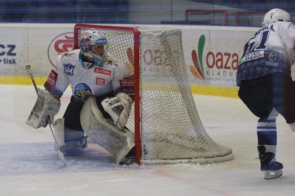 Kladno (v bílém) hostilo v hokejové extralize Plzeň.