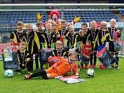 Krajské finále McDonalds Cupu ve Vlašimi. Vítězný tým Dolních Břežan
