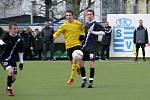 Kladno - Bohemians 1905 1:0. Vpravo hráč, který rozhodl - Martin Sus