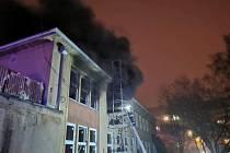 Požár školky v Kladně-Kročehlavech.
