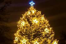 Slavnost světla ve Slaném v sobotu 28. listopadu 2020.