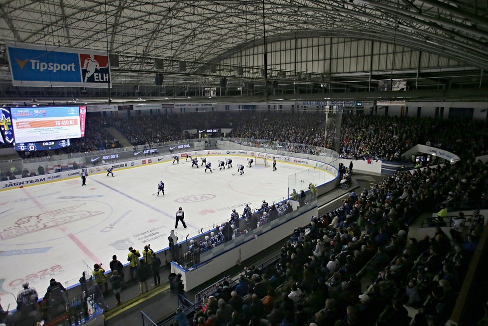 Duel tradičních rivalů se hrál před plným hledištěm // Rytíři Kladno - Kometa Brno 5:1, ELH 17. 1. 2020