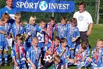 Mladší přípravka SK Kladno obsadila ve Lhotě na Sport Invest Cupu krásné třetí místo.