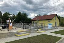 Slavnostní otevření čističky odpadních vod v Unhošti.