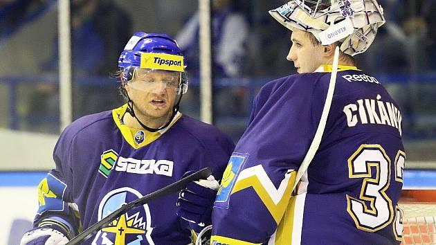 Milan Toman a Lukáš Cikánek před dvěma lety ještě jako spoluhráči.