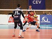 Kladno volejbal cz - Arcada Galati 3:2,  CEV Cup, Kladno, 7. 12. 2017