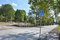 Zrekonstruovaná ulice Dr. Foustky v Kladně ke 14. srpnu.
