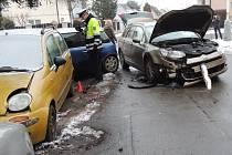 Nehoda v Kladně v úterý odpoledne