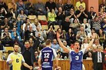 Kladno volejbal cz - VK ČEZ Karlovarsko 3:1, šesté utkání čtvrtfinále Extraliga volejbalu