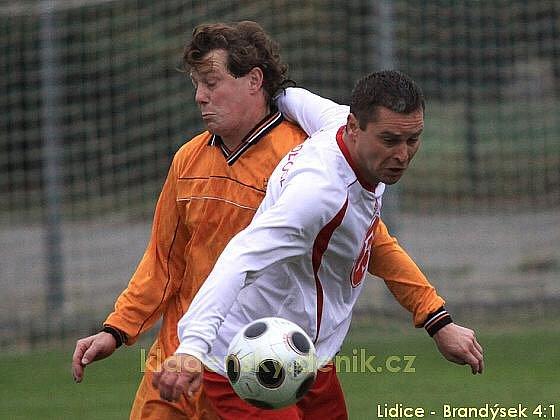 Sokol Lidice - FK Brandýsek 4:1, Krajský přebor I.B.tř., 8. kolo, 10.10.2009