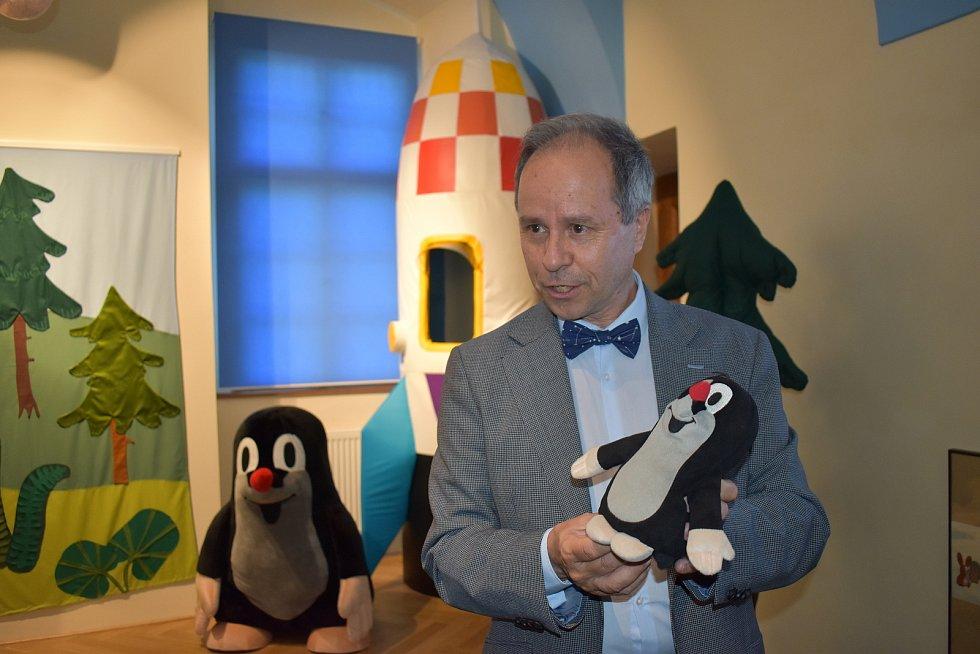 Otevření expozice Nejen Krtek v Kladenském zámku za účasti rodiny Zdeňka Milera.