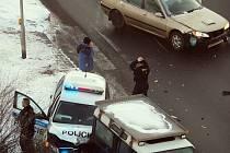 Nehoda policistů v Kladně