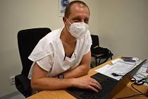 Vedoucí lékař Covid oddělení slánské nemocnice Tomáš Drasnar.