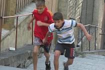 3. ročník běhu do schodů v kladenském Podprůhonu.