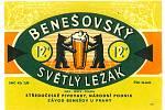 Žlutá barva byla dominantní v sedmdesátých letech minulého století na pivní etiketě Benešovského světlého ležáku.