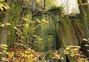 Slánská hora na podzim