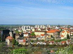 Město Slaný - pohled ze Slánské hory