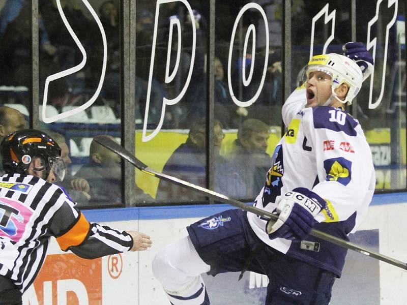 Pavel Patera srovnal na 1:1 // HC Rytíři Kladno - HC Škoda Plzeň 2:1 sn,  ELH 2013/14, hráno 17.11 2013