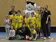 Po zápase došlo na vyhlášení turnaje elévů // Kanonýři Kladno - Florbal Chomutov, 1. liga mužů, Kladno, 18. 2. 2018