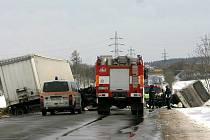 Nehoda u Tuchlovic 4. února 2011