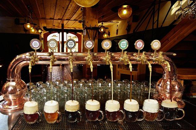 Antošův rukodělný pivovar ve Slaném.