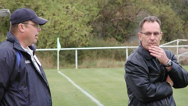 Vraný - Velká Dobrá 3:4, velký obrat hostů. Neradi ho viděli domácí vedoucí mužstva Radek Babický i trenér Karel Grabmüller.