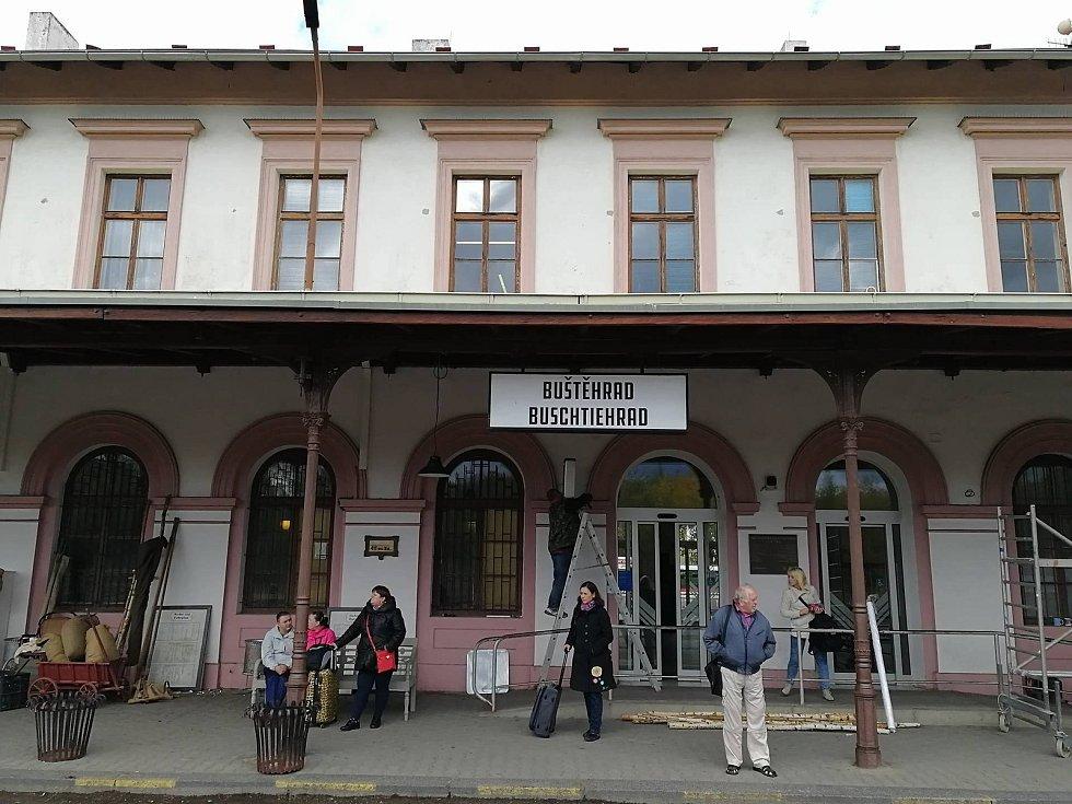 Natáčení třetí řady televizního seriálu První republika. V Kladně nebo snad v Buštěhradu?