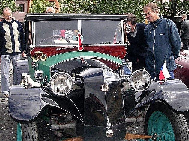 Velký ohlas měly u návštěvníků vozy značky Tatra.