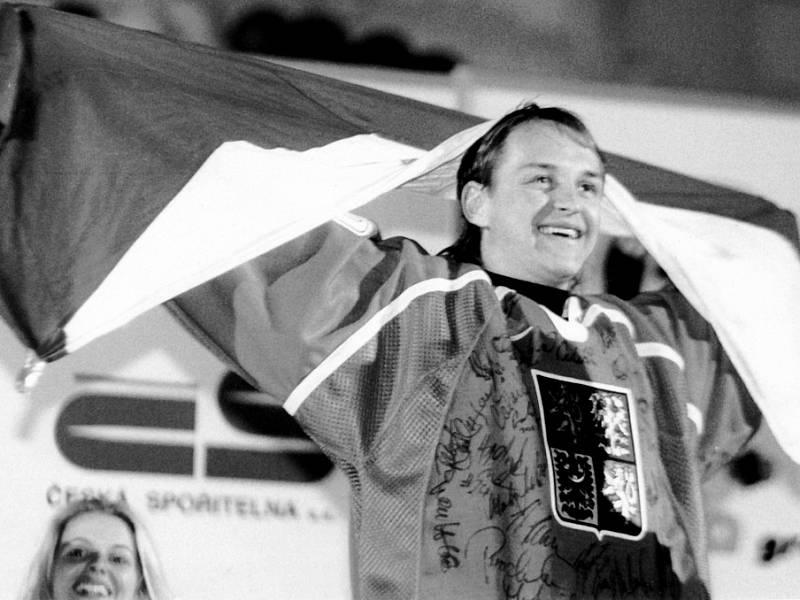 Nagano 1998, Pavel Patera slaví triumf Čechů na Staroměstském náměstí