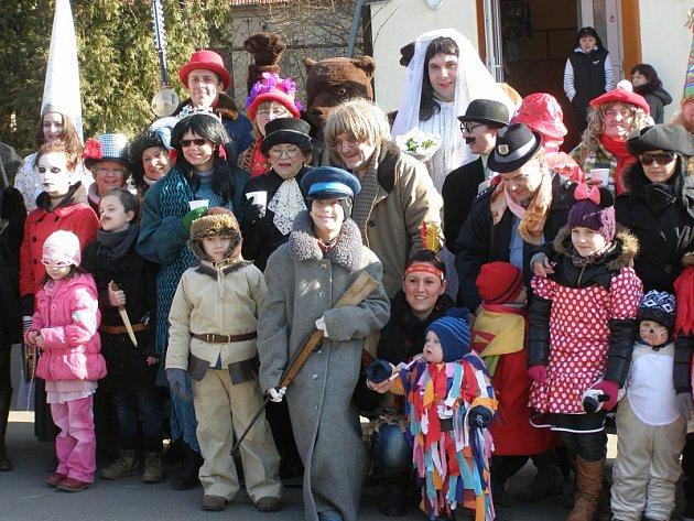 Masopustní veselí se konalo v sobotu v Makotřasech.