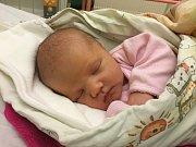 ADÉLA BRABCOVÁ. Po narození vážila 3,3 kg a měřila 50 cm. Rodiče jsou Petra Falátová a tatínek David Brabec. (porodnice Slaný).