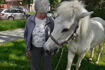 S koníkem Jackem žije Helena Kafková v Kladně už třicet let.