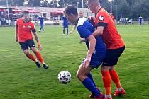 Velvary (v modrém Kafka) vyhrály 1:0 na Libercem B.