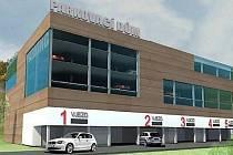 Počítačové vizualizace parkovacích domů pro automobily, které by v příštích letech mohly být postaveny v Kladně.