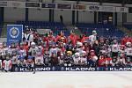 Pojď hrát hokej v Kladně, akce Rytířů pro nejmenší adepty hokeje se zúčastnily i kladenské hvězdy minulosti i současnosti Ondřej Pavelec, Jan Neliba, Radek Gardoň nebo Petr Vampola.