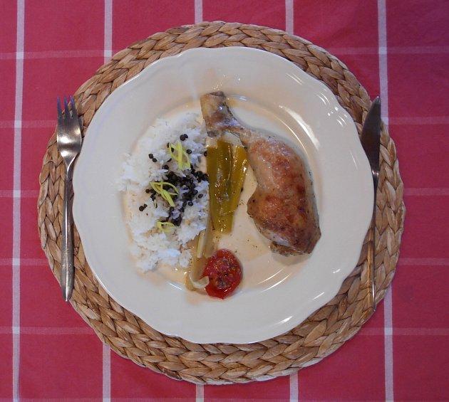 Středomořská bašta aneb citronové kuře sčesnekem.