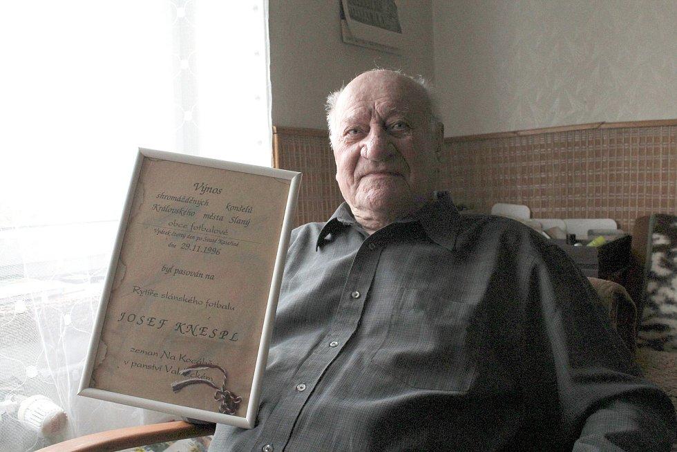 Legenda slánského fotbalu Josef Knespl Rytíř slánského fotbalu