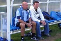 Tomáši Čuřínovi (vpravo) se dobře spolupracovalo s trenérem Miroslavem Koubkem.