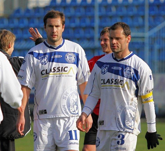 Tomáš Procházka a Pavel Bartoš // SK Kladno -SK Horní Měcholupy 1:3 (0:2) , utkání 14.k. CFL. ligy 2012/13, hráno 10.11.2012